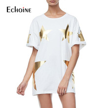 Casual Loose Bag Hip Long Section T-shirt women  2019 New Summer short sleeve O neck ladies night club Female mini dress T shirt casual loose bag hip long section t shirt women 2019 new summer short sleeve o neck ladies night club female mini dress t shirt