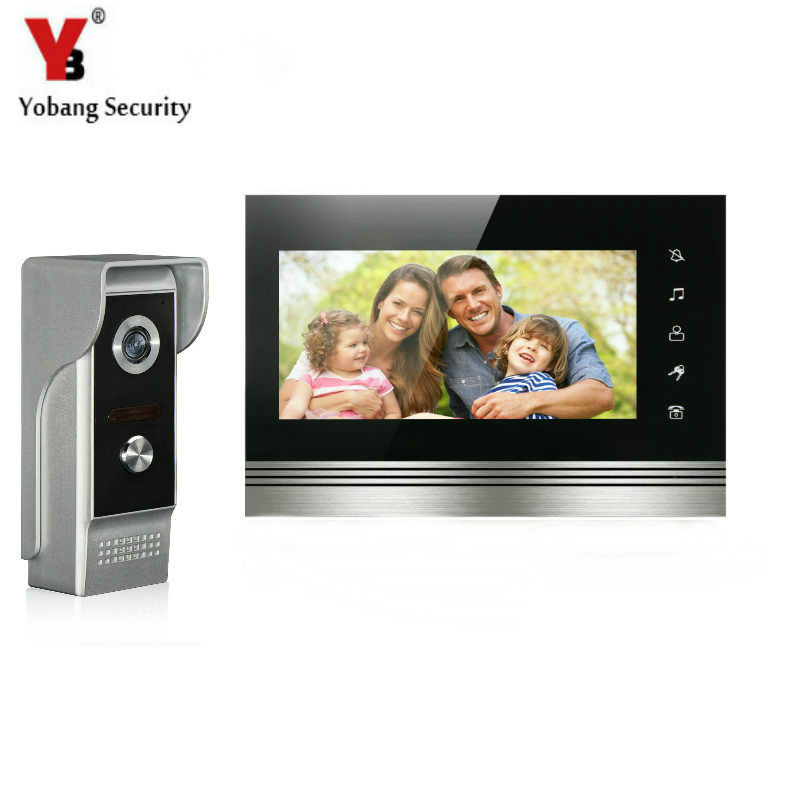 YobangSecurity 7Inch Touch Screen Video Door Phone Doorbell Intercom Monitor Visual Security Camera Bell System For Home Office jeatone 7 lcd monitor wired video intercom doorbell 1 camera 2 monitors video door phone bell kit for home security system