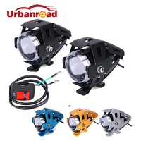 2pcs Motorcycle Led Headlight 125w 3000lm U5 Cree Chip Motorbike Fog Lamp Headlight Led Spot