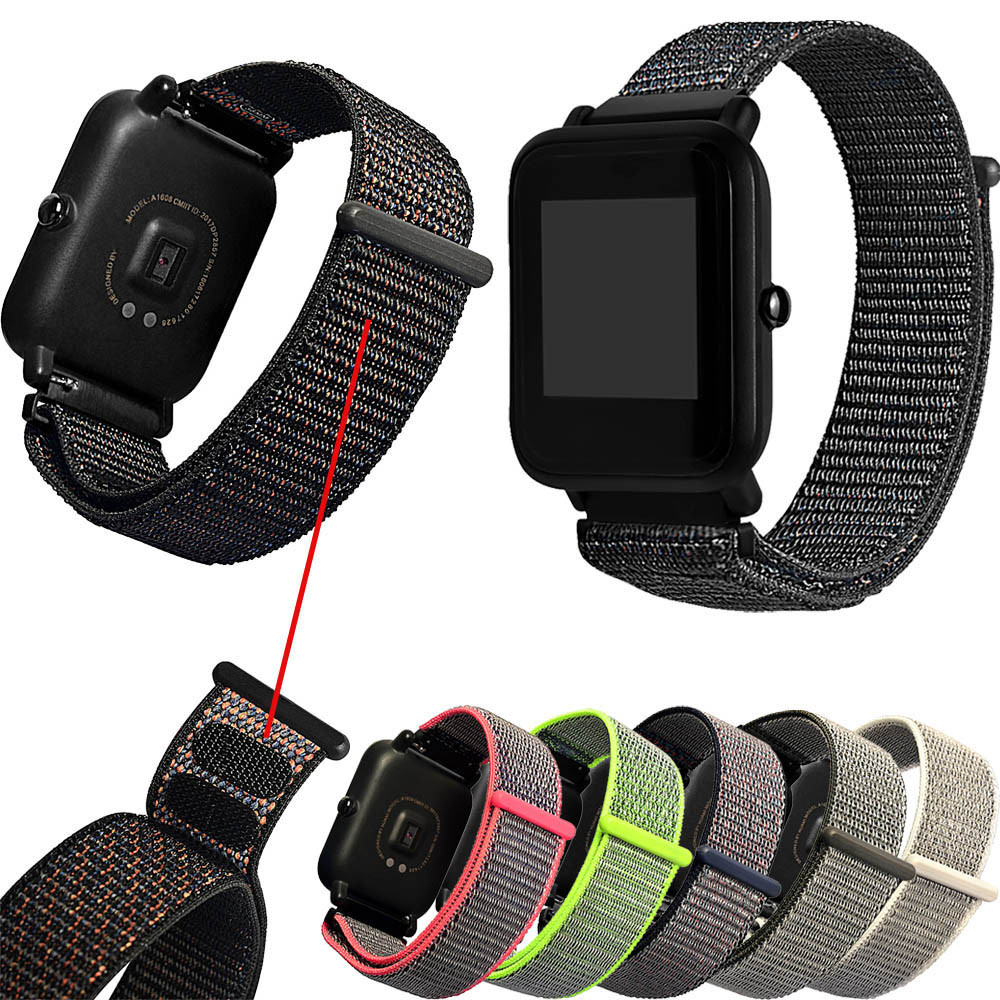 Cool Magic Sticker Canvas Strap Wrist Band For Huami Amazfit Bip Youth Watch Apr25