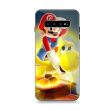 Mobile Phone Case Samsung A10 A20 A30 A40 A50 A60 A70 S7 Edge S8 Plus Note 8 9 S10 Cover Cartoon Yoshi Super Mario Dinosaur