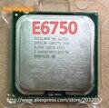 Оригинал Для Intel Core 2 Duo E6750 Процессор 2.66 ГГц Двухъядерный e6750 SLA9V LGA 775 Настольный процессор (работает 100%