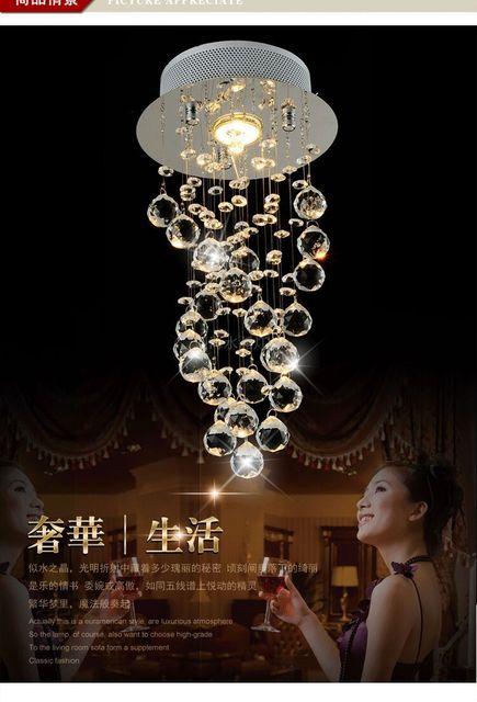 luxus k9 kristall anhanger kronleuchter modern gefuhrt spirale lampe luster de cristal beleuchtung mode decke