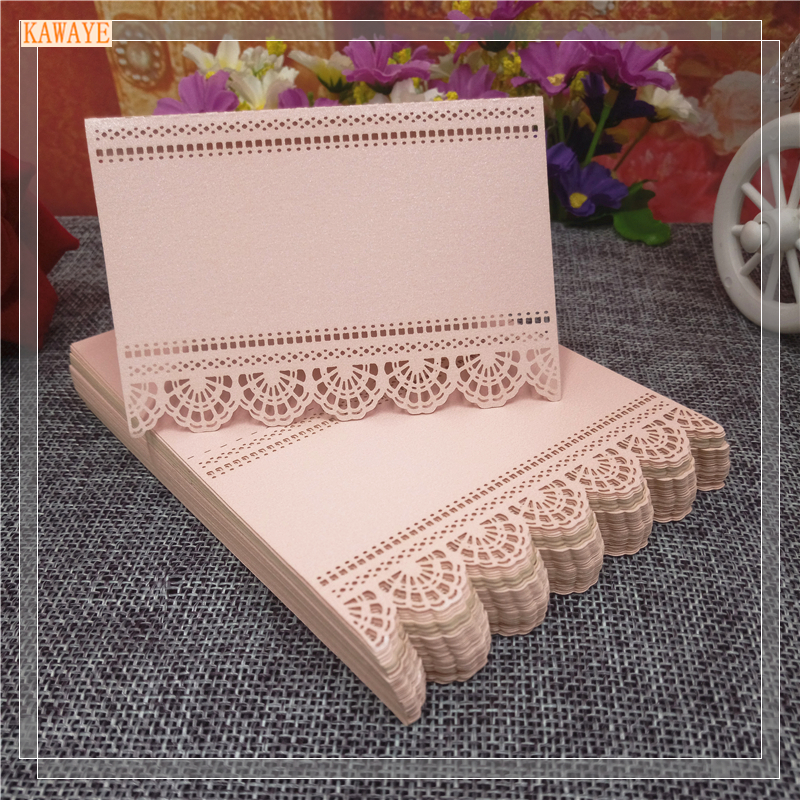 50pcs Lace Laser Cutting Table Cards Place Card Name Seating Card Wedding Party Table Decoration Wedding Preference 8ZZ24