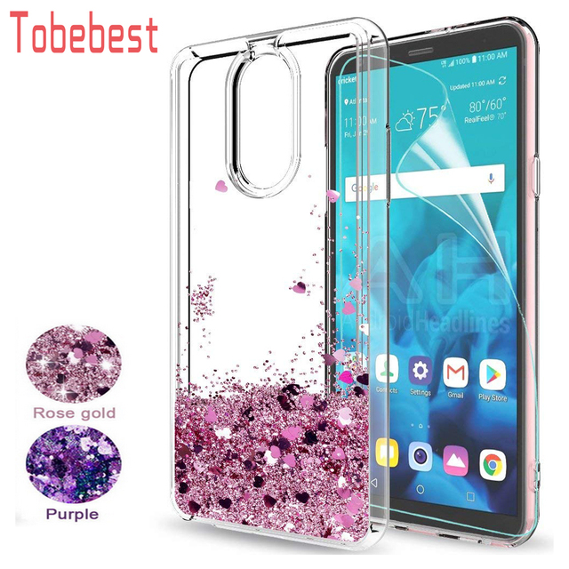 buy online 21f67 abc24 US $3.73  Aliexpress.com : Buy For LG Stylo 4/Stylo 4 Plus Glitter Case  Girls Women Sparkle Shiny Bling Quicksand Liquid Clear Soft TPU Slicone  Phone ...