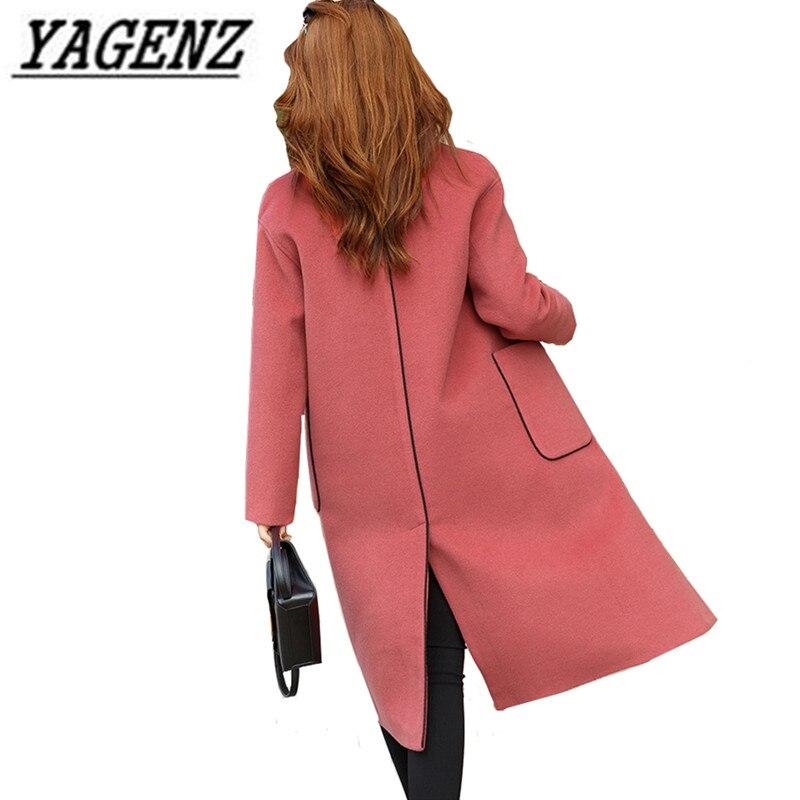 Premium Wool Jacket Lady Clothing 2019 Han Elegant Slim Single breasted Ladies Outerwear Large size Women's Casual Wool Coat 4XL