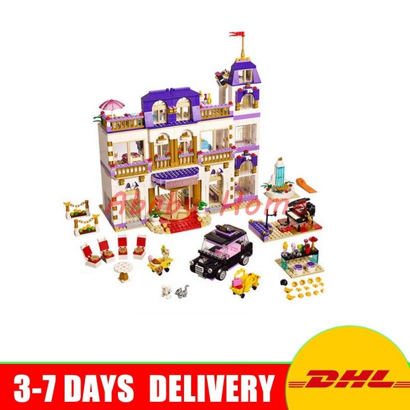 Lepin 01045 1676Pcs Girls Series The Heartlake Grand Hotel Building Blocks Brick Toys Model Gifts Compatible 41101