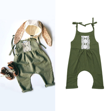 2017 lustige Baby Kleidung Spitze Rüschen Floral Sleeveless Strampler Tiny Baumwolle Baby Overalls Sunsuit Outfits Baby Onesie 0-24 Mt