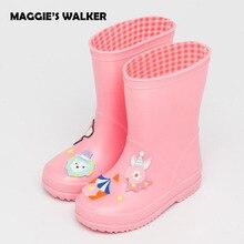 Maggie's Walker Детская мода дождь Сапоги и ботинки для девочек Обувь для мальчиков Обувь для девочек мультфильм принц резиновые сапоги Детские ручной работы Нескользящие Водонепроницаемый Сапоги и ботинки для девочек