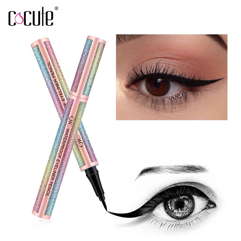 Image 2 - 2 in 1 Liquid Eyeliner Pen Eye Liner Waterproof pencil Long lasting Liquid Eyeliner Makeup Cosmetic Shimmer Color Eye liner-in Eye Shadow & Liner Combination from Beauty & Health