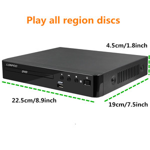 Image 2 - LONPOO Mini USB RCA HDMI DVD Player Region Free Multiple OSD Languages DIVX DVD CD RW Player LED Display Player DVD MP3