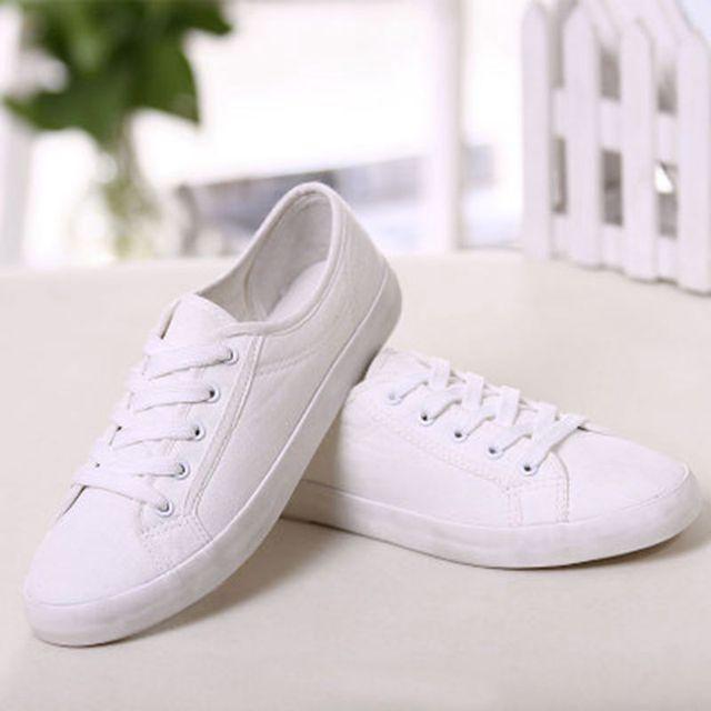 Blanco Mujeres Sólido Lona 2015 Las Zapatillas Zapatos Color De Ox6gn1WAH