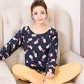Новое Поступление WAVMIT 2017 Весна Пижамы Женщин Коробка Мило Pijama Pattern Пижамы Установить Тонкий Pijama Mujer Пижамы Пижамы Оптом