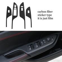lsrtw2017 carbon fiber car  window control panel trims for honda civic 2016 2017 2018 10th generation decoration circle trims for 10th gen honda civic a pillar car door audio speaker rings trims for honda civic 2016 2017 2019 2019