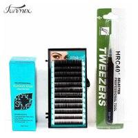 Cá Nhân chuyên nghiệp Ghép Cá Nhân Mix Lông Mi Giả Gule Tweezer C Curl Lash Extensions Make Up Kit Set