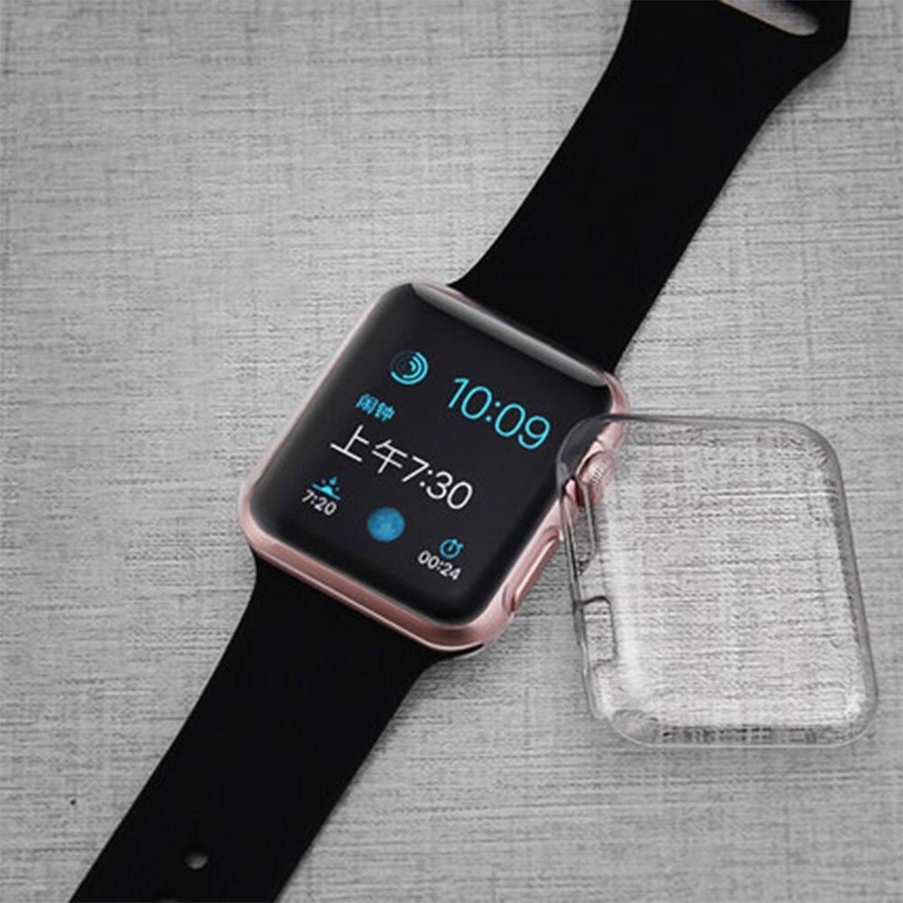 Gennemsigtig Clear Cover til Apple Watch Case 38mm 42mm Cover til Apple Watch Series 1 Series 2 Series 3 Hard Slim Protect Cover
