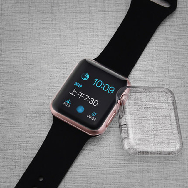 new styles 6c0fb 2c40a US $1.35 49% OFF|Transparent Clear Cover for Apple Watch Case 38mm 42mm  Cover for Apple Watch Series 1 Series 2 Series 3 Hard Slim Protect Cover-in  ...