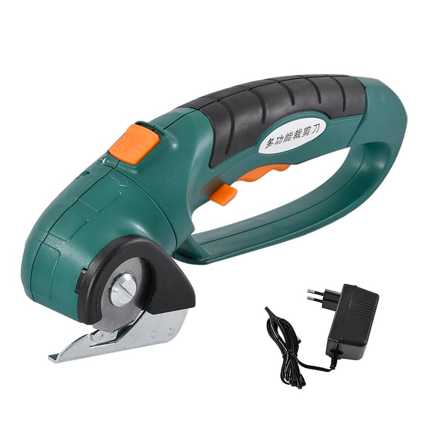 Et2806 recarregável multi-purpose tesoura tesoura elétrica mão-realizada circular faca máquina de corte 1.3ah 3.6 v 240 rpm