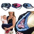 Infant newborn Baby carrier Sling wrap Cute Stylish swaddling strap sleeping bag inclined cross feeding Front Carry bag 3 colors