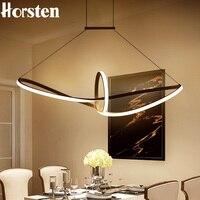מודרני Creative פשוט LED תליון אורות 100cm אקריליק אלומיניום תליון מנורת 110-220V תלוי מנורת עבור אוכל חדר מסעדה