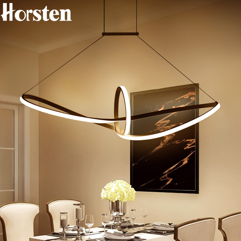 Modern Creative Simple LED Pendant Lights 100cm Acrylic Aluminum Pendant Lamp 110-220V Hanging Lamp For Dining Room Restaurant horsten modern simple led pendant lamps dining pendant lights aluminum acrylic ring hanging lamp restaurant home lighting 220v