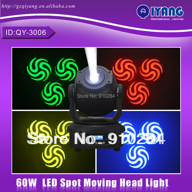 60W LED moving head spot professional dj disco led moving head light for christmas ktv party bar