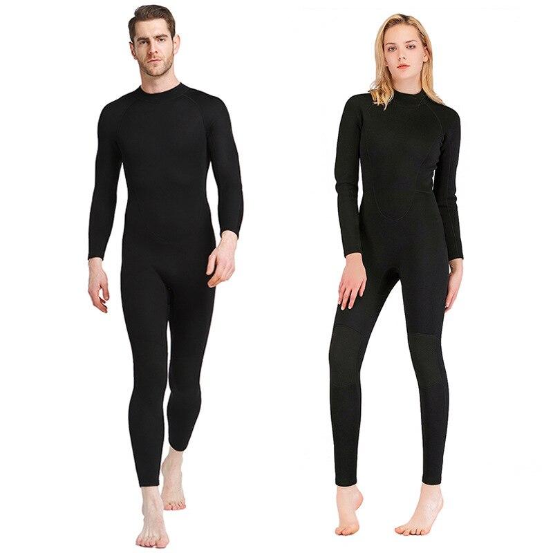 1.5mm néoprène hommes/femmes combinaisons de plongée complet corps combinaisons de plongée en apnée maillots de bain une pièce équipement de natation sous-marine 2019 EO