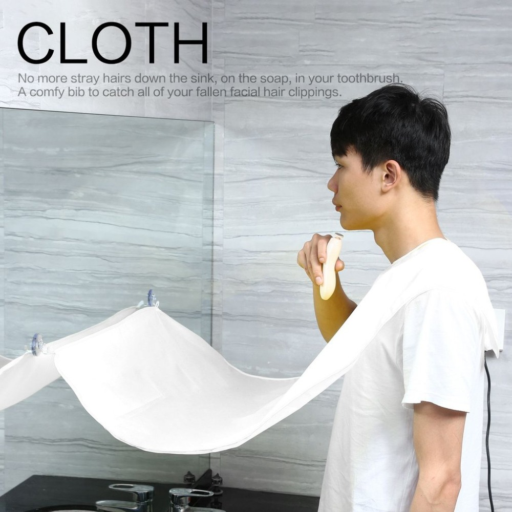 Men Beard Shave Hair Apron Collector Catcher Trimmer Cloth Bathroom Protection
