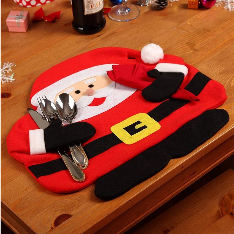 New Hot Christmas Santa Claus Tableware Mat Dinner Lunch