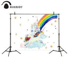 Allenjoy photography backdrops unicorn backdrop Rainbow Castle Stars for Children Photophone photography photo booth photography