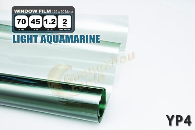 1.52 * 30 m de alto rendimiento del coche del animal doméstico Solar Car Window Tint Film Foil envío gratis / luz Aquamarine / YP-4