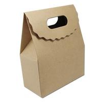 DHL Pakiet Papier Pakowy Brązowy Pieczenia Ciasteczka Herbatniki Cukierki Pudełka Opakowania z Magictape Stroną Małe Gift Pack Uchwyt Box