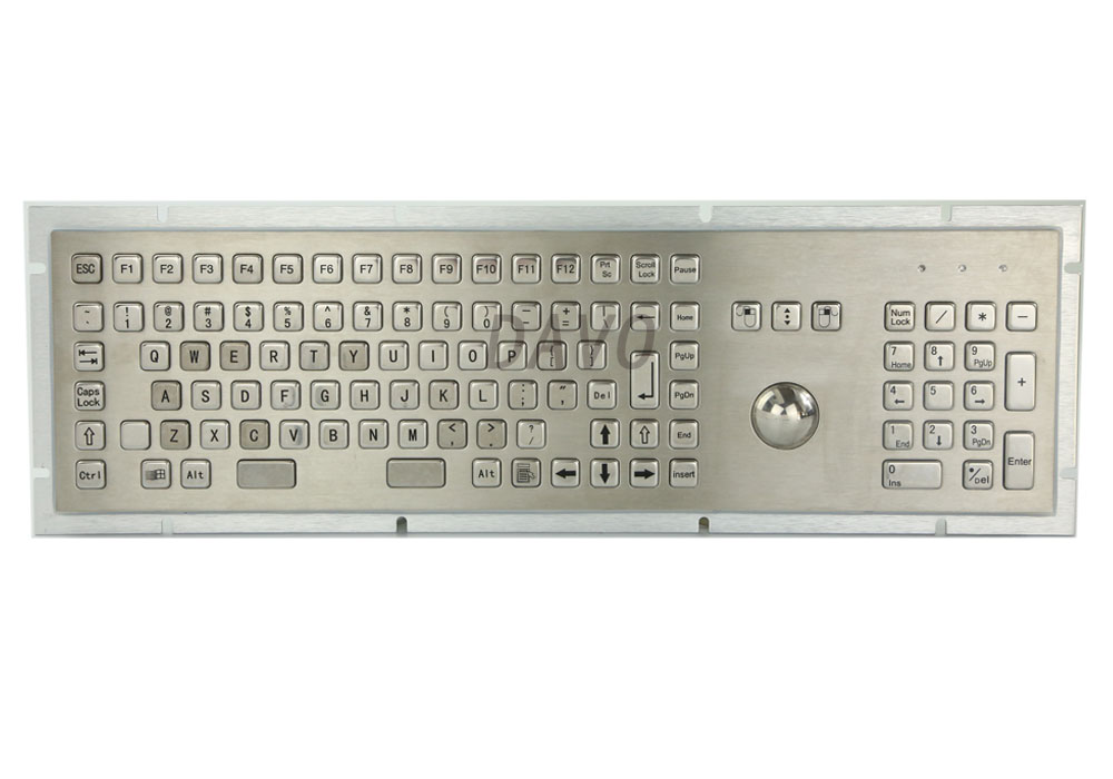 Metal Medical Keyboard With 103 Keys Marine Military Medical Grade Keypads Trackball Industrial Keyboard Spanish Keyboard