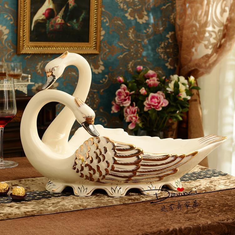 European Style Luxury Large Ceramic Platter Living Room Table Decor