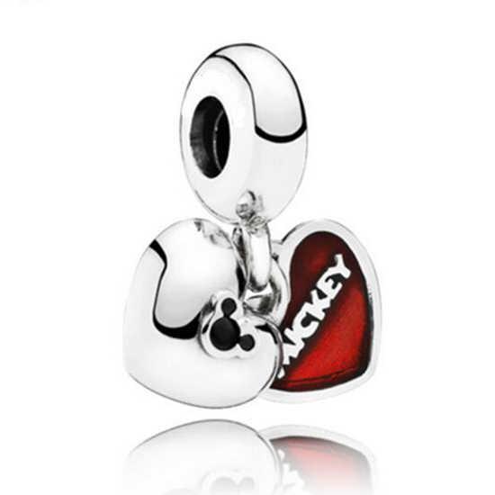 ใหม่แฟชั่นหัวใจรัก Bowknot นกฮูกจำนวน 8 รองเท้าส้นสูงจี้ลูกปัด Pandora กำไลและกำไลสำหรับผู้หญิง DIY เครื่องประดับของขวัญ