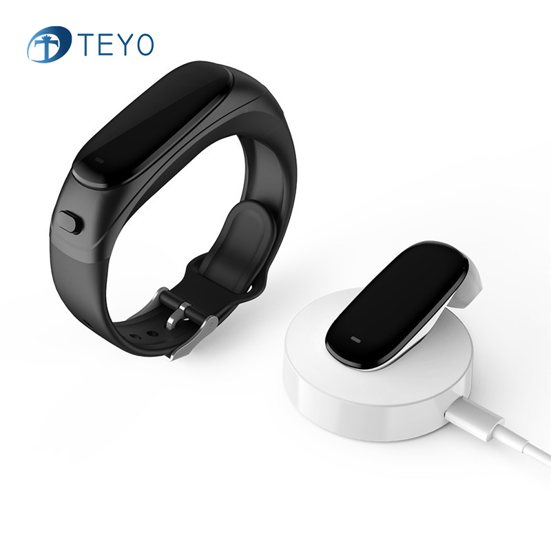Teyo Earband Smart Bracelet V08 Heart Rate Monitor Blood Pressure Fitness Tracker Pedometer Smart Wristband for Android IOS bluetooth smart wrist watch blood pressure watches bracelet heart rate monitor smart fitness tracker wristband for android ios