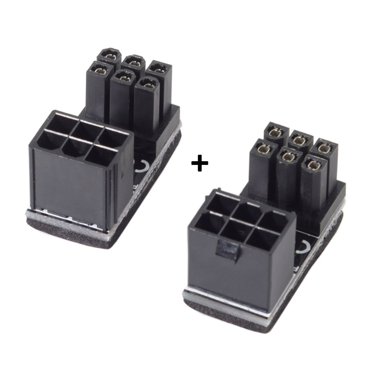 ATX 6Pin Female To 6pin Male 180 Degree AngledPower Adapter For Desktops Graphics Card