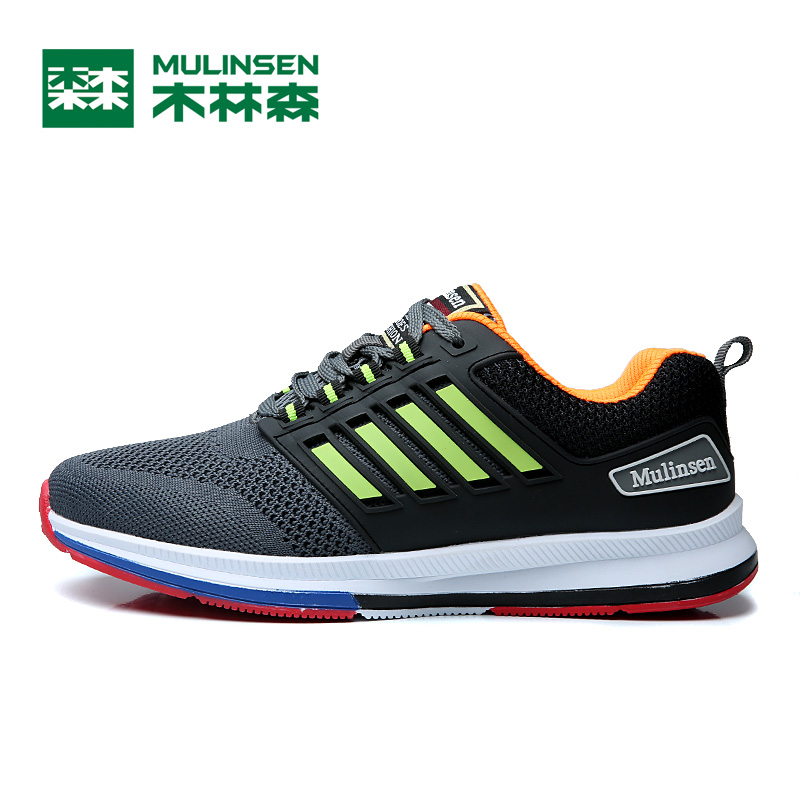 Men running shoes 2017 sport Sneaker Breathable Fur athletic outdoor shoe eur size 38 to 44,Mulinsen S70235 mulinsen men s running shoes blue black red gray outdoor running sport shoes breathable non slip sport sneakers 270235