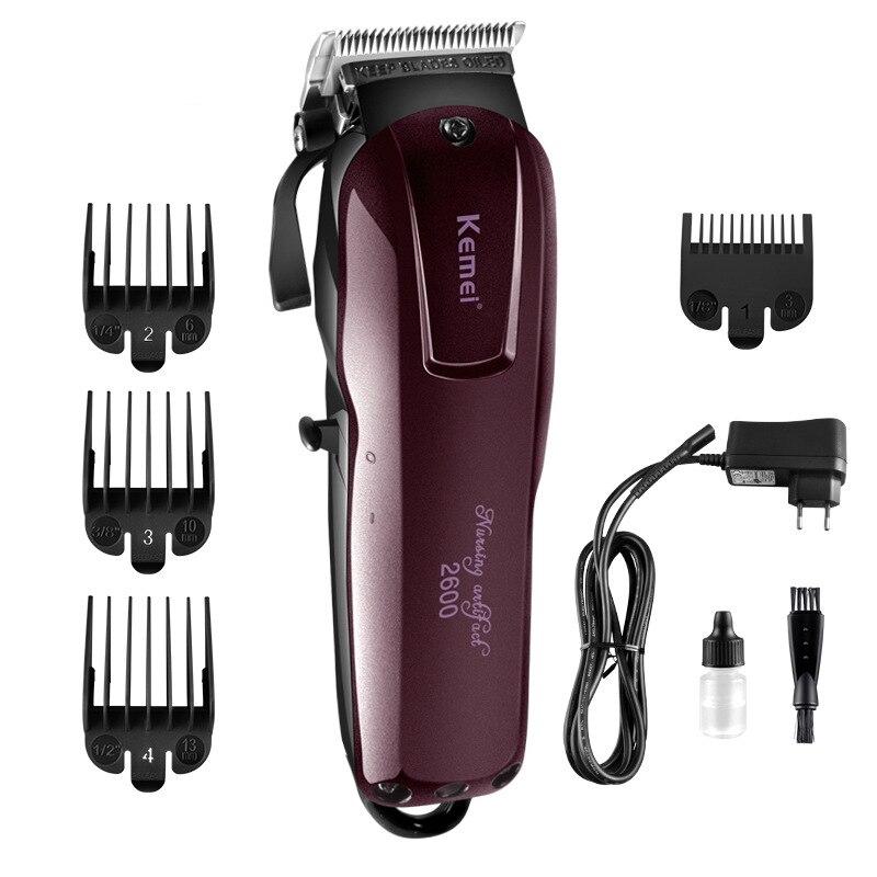 Pince à cheveux acier inoxydable tête de couteau tondeuse à cheveux tondeuse de chargement Machine de coupe de cheveux pour couper les cheveux barbe Trimer étanche