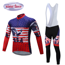 Winter Thermal Fleece Teleyi Maillot Ropa Ciclismo Team Bib Pant Polyester Bicycle Long Sleeve Windproof Jersey Clothes