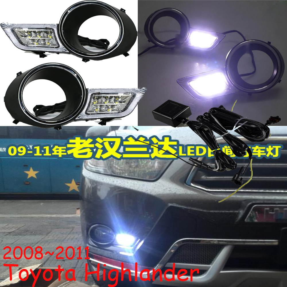 LED 2008 2011 Highlander daytime Light Highlander fog light Highland headlight vios corolla camry Hiace sienna