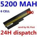 5200mah 6 cells Replacement Laptop Battery For IBM ThinkPad R60 R60e T60 T60p Lenovo ThinkPad R500 T500 W500 laptop batteria