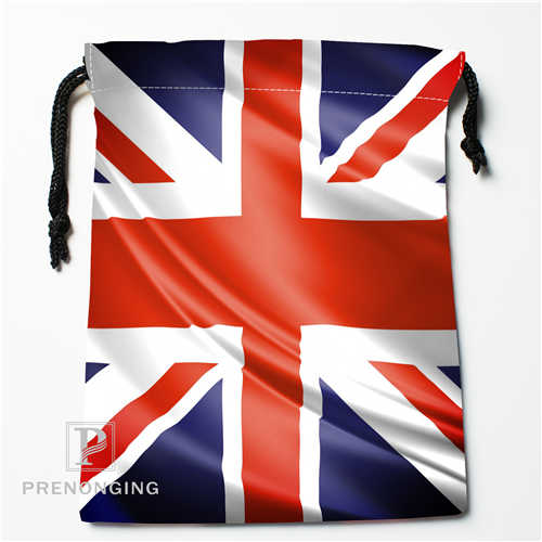 Custom FFlag Drawstring Bags Printing Fashion Travel Storage Mini Pouch Swim Hiking Toy Bag Size 18x22cm #171208-11