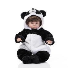 42 cm Souple en silicone reborn bébé poupée jouets jouer maison main réaliste panda reborn filles poupée cadeaux pour filles poupées collection