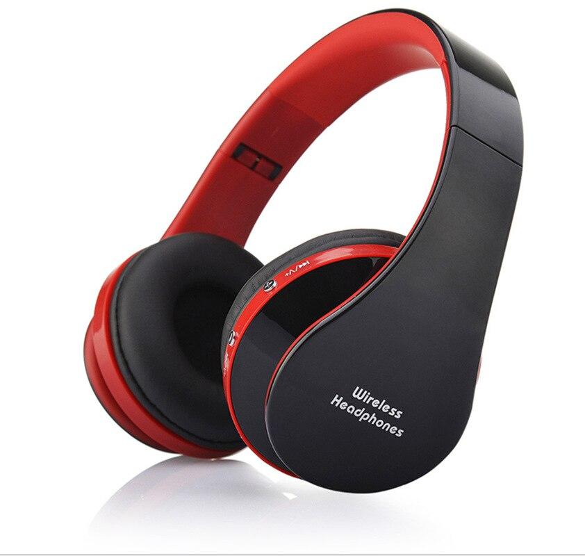 MidCreat 8252, беспроводная Bluetooth гарнитура, складные наушники, Bluetooth наушники, шумоподавление с микрофоном для спортивной музыки - Цвет: Красный