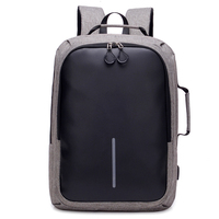 USB Charge Music Backpack 15.6 Laptop inch Anti Theft Women Men School Bags Waterproof Teenage Travel Bag Fashion Backpack Gray