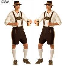 Октоберфест Костюм ледерхосен баварский Октоберфест Немецкий фестиваль пива Хэллоуин для мужчин пивные костюмы размера плюс M, L, XL, 2XL