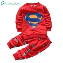 Grandwish Superman Printemps Costume pour Enfants Hoodies + Pantalon Ensemble pour Garçon Enfant de Bande Dessinée Casual Costumes pour Bébé Garçon 24 M-5 T, SC887