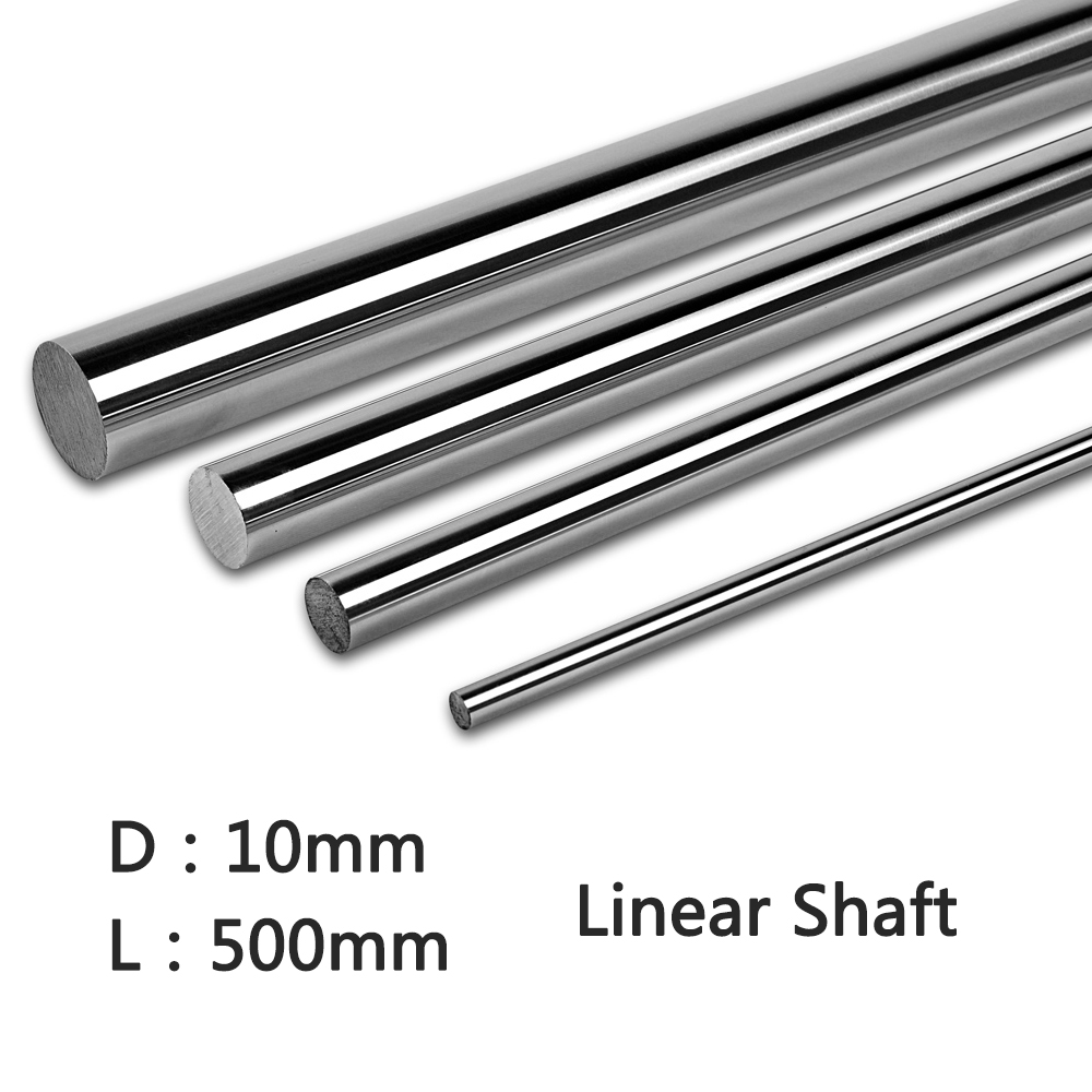 2pcs/lot 10x500 linear shaft diameter 3d printer 10mm x 500mm Cylinder Liner Rail Linear Shaft for axis cnc parts Linear Rail linear axis with toothed belt drive belt drive linear rail reasonable price guideway 3d printer linear way