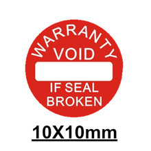 500pcs/lot Diameter 10 mm Warranty sealing label sticker void if seal broken damaged, Universal with years and months for